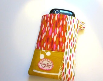 Red and Mustard Drops Phone Sleeve