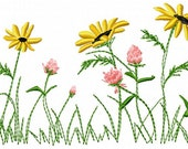 Wildflowers Embroidery Design - Instant Download
