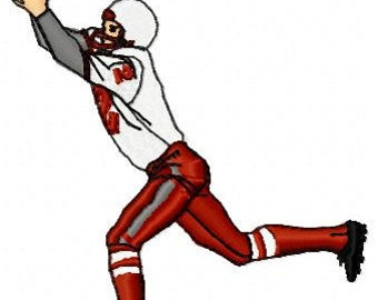 Football Player Embroidery Design - Instant Download