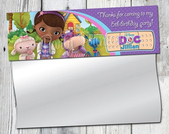Doc McStuffins Treat Bag Toppers: Dr. Mc Stuffins Birthday Party Printable. Invitation Available