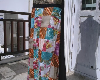 Patchwork skirt.