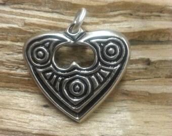 925 Silver Raven Heart Pendant