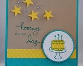 Handcrafted Fun Birthday Cake Birthday Card