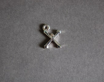 X Single Rhinestone Charm