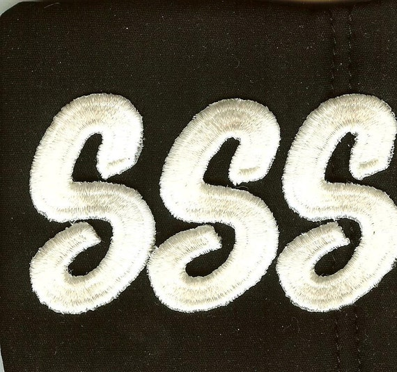 Iron on embroidery applique letter s price is for 3 pieces for Embroidery prices per letter