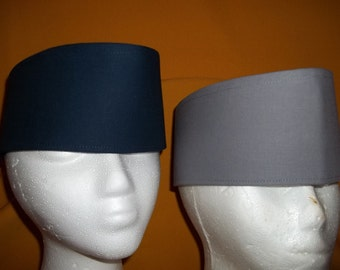 """Hand Made Cotton Crowns Custom Made with a 3 1/2"""" band.  Perfect way to enhance your wardrobe. Shown in 5 colors."""