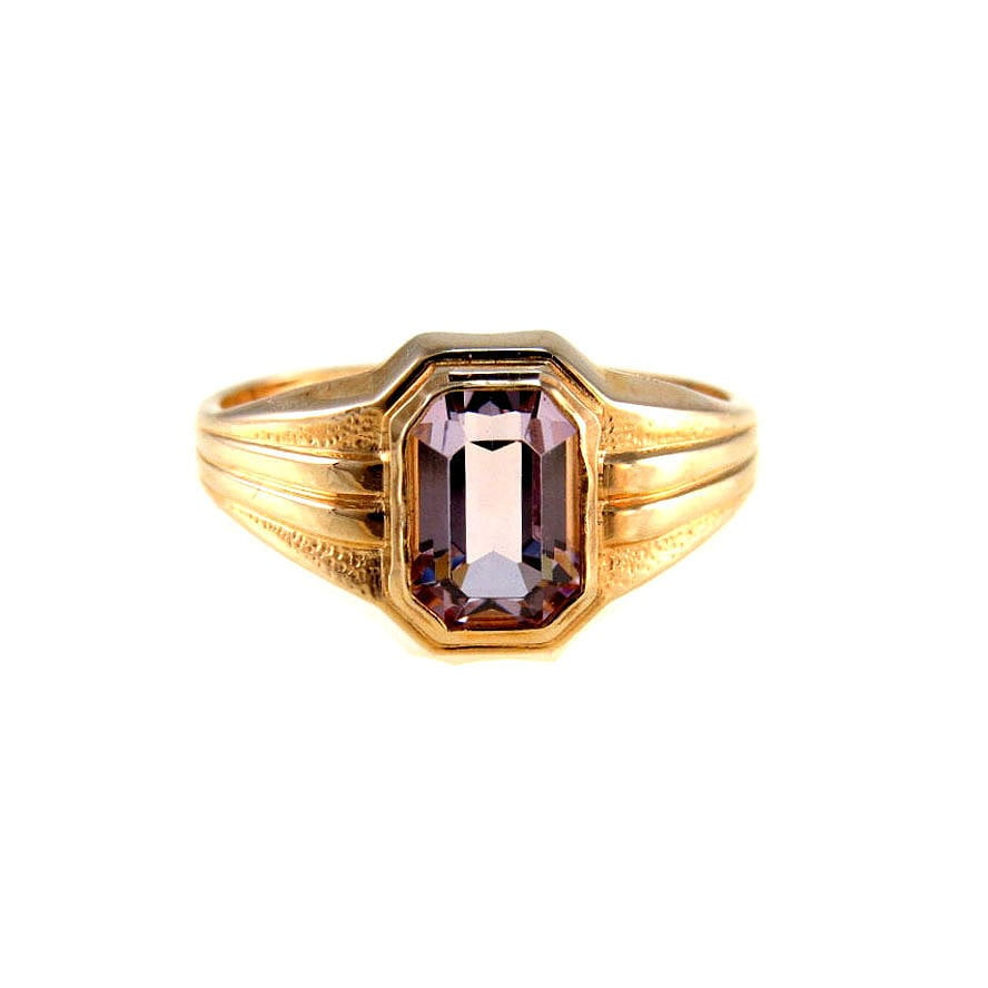 10k gold amethyst signet ring 5 25 february birthstone ring