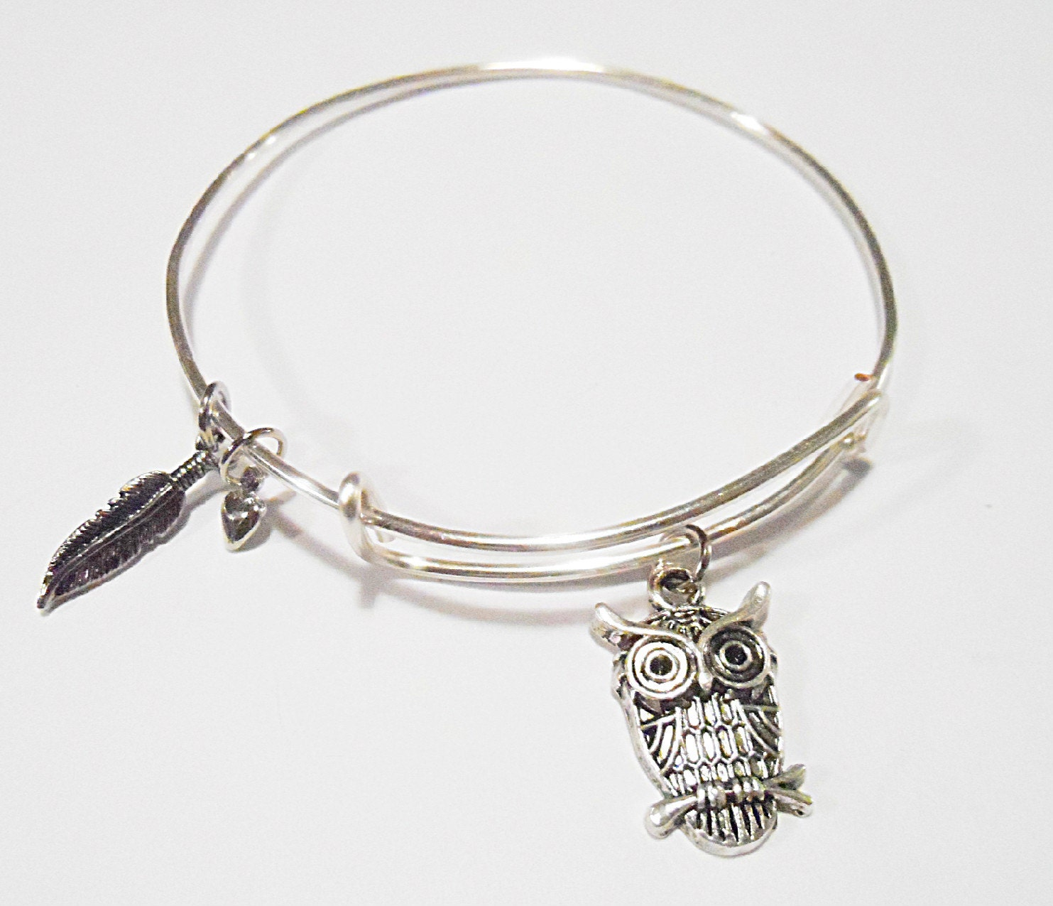 owl alex and ani inspired charm bracelet