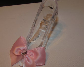 Cinderella Princess Slipper Party Favor Decor Set of 3 Satin Bow