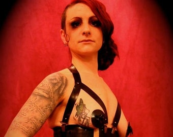 Latex corset straps