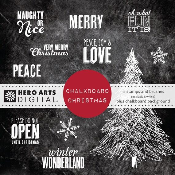 Hero Arts Digital Chalkboard Christmas DK111