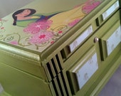 RESERVED  Mulan Upcycled Musical Jewelry Box