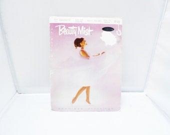 Vintage Nylon Stockings 60s Beauty Mist Navy Velvet Demi Toe medium Seamless
