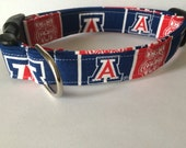 University of Arizona wildcats dog collar..... Your choice of size