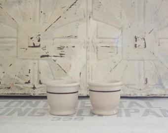 Vintage Restaurant Stoneware Crock Custard Dessert Cups
