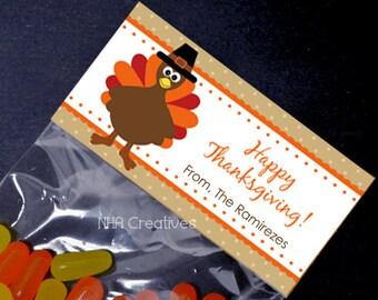 Thanksgiving Turkey Treat Bag Topper - DIY Printable Digital File
