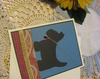Scotty Dog Silhouette Card