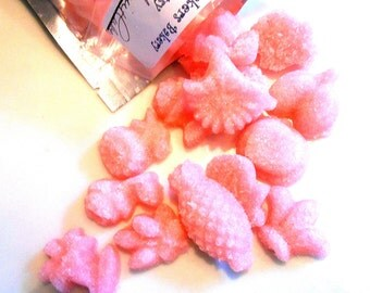 STRAWBERRY, SUGAR CUBES- Sugar Fruits and Roses, Drink Sweeteners, Champagne Toasts, Tea Parties, Favors, Tea, Coffee, Lemonade