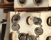 Antique Tintype Bracelet,  6 Victorian Women