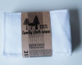 Reusable Diaper Inserts Soakers Doublers Flannel Cloth -  Set of 5 White Diaper Inserts