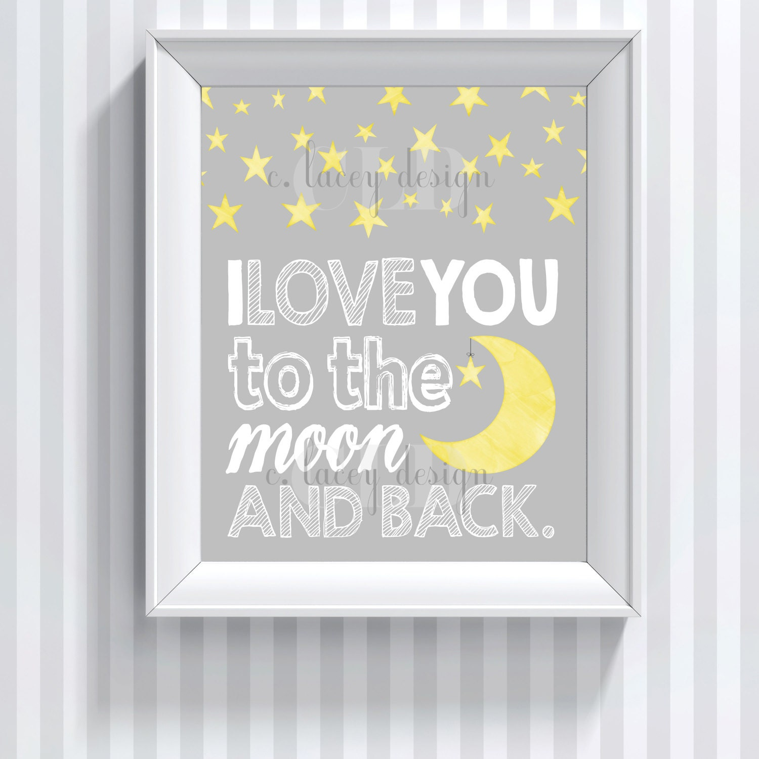 i love you to the moon and back nursery wall art printable. Black Bedroom Furniture Sets. Home Design Ideas