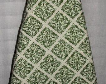 Decorative Ironing Board Cover Green and Cream Diamond Tile Vibrant Bold Colors