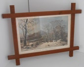 Currier and Ives Framed Vintage Art Wall Art 1950s