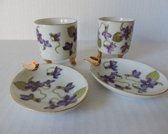 Mitterteich Bavaria Germany Porcelain Ashtrays and Cigarette Holders