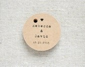 With Love Rustic Wedding Favor Tags - Vintage Inspired Kraft Gift Tag - Bridal Shower - Bachelorette Party - Set of 30 (Item code: J451)
