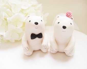 Custom Wedding Cake Toppers - Cute Polar Bear