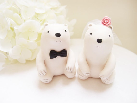 Custom Wedding Cake Toppers - Cute Polar Bear