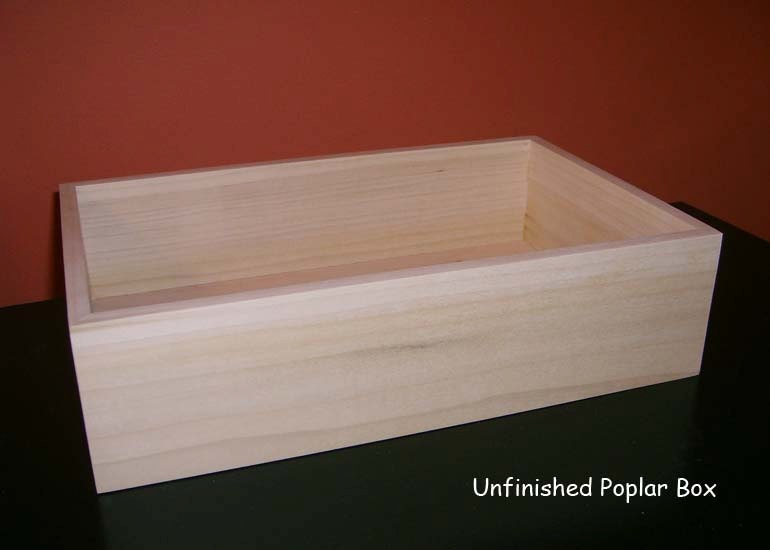 Unfinished Open Top Wooden Shadow Box Unfinished Wood