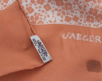 Vintage Jaeger Floral Silk Scarf - Pink- Ditsy Floral - Pretty ladies neck tie - hair bow