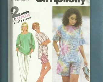 Simplicity 7819 Quick to Sew & Easy to Wear Tees Pants or Shorts Sizes P..S..M Uncut