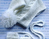 Boys Hats and Mittens, Knit Baby Boy Mittens Hats Set, Baby Boy Sets, Baby Boy Hat Mittens, Baby Hat and Mittens