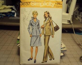Vintage Pattern  jacket, skirt, pants from 1971  Simplicity pattern # 9837