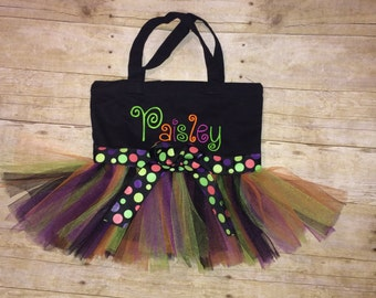 Halloween Tutu Tote Bag. Perfect for trick or treat!