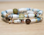 Pinocchio Recycled Paper Bead Bracelet, Made From Book pages, Librarian Gift, Teacher Gift, Book Lover, Disney Jewelry