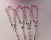 10 pcs  First communion favors / Mini  Rosary Baptism Favors/ Baptism favors/ Religious Mini Rosary / pink mini rosaries/girl favors  Narelo
