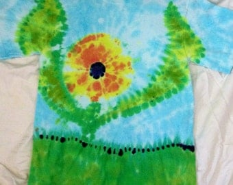 Adult Flower Power Tie Dye Small Tee Shirt
