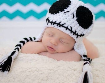 Crochet Jack Skellington Beanie/Hat