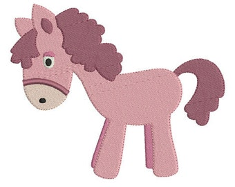 Embroidery design machine horse instant download.