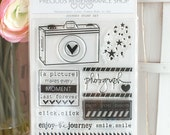 Journey Stamp Set - Photopolymer, Clear Stamps, Made in USA