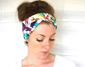 Feather Print Turban Headband