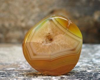 Beautiful natural agate druzy pendant