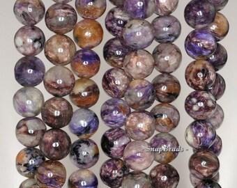 9mm Chara River Charoite Gemstone AB Purple Round 9mm Loose Beads 7.5 inch Half Strand (90144684-249)