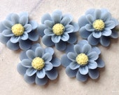 18 mm Grey Colour Resin Marigold Flower (.ag)