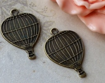 25 x 17 mm Antiqued Bronze Balloon Charm Pendants (.am)