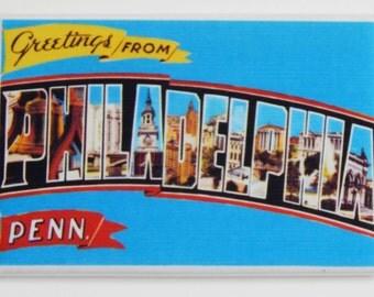 Greetings from Philadelphia Fridge Magnet