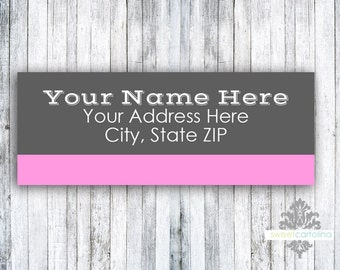 Return Address Labels - Stickers - Whimsical Pink